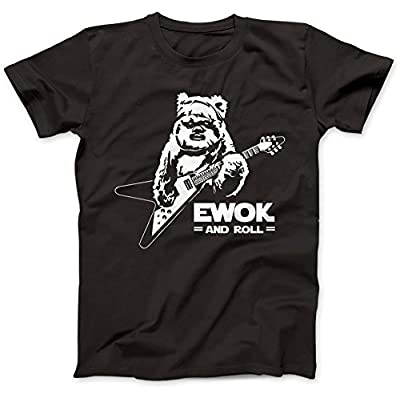 Ewok And Roll Guitar Funny T-Shirt 100% Coton