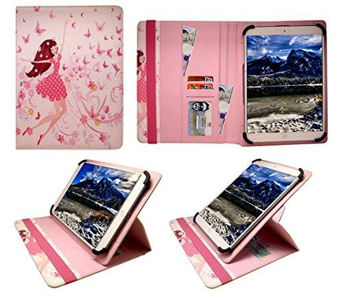 "Sweet Tech Denver TAD-10063 / TAD-10072 / TAQ-10122 / TAQ-10133 / TAQ-10153 10.1"" Inch Tablet Glückliches Mädchen Universal 360 Grad Wallet Schutzhülle Folio mit Kartensteckplätzen (9-10 Zoll"
