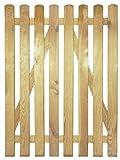 StaketenTür 'Premium' 100x140/140 cm - gerade – kdi / V2A Edelstahl Schrauben verschraubt - aus getrocknetem Holz glatt gehobelt – gerade Ausführung - kesseldruckimprägniert