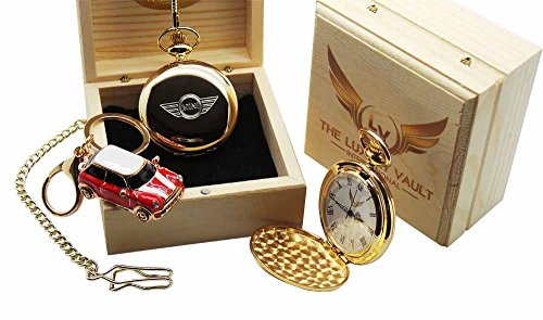 mini-cooper-s-gold-pocket-watch-and-keyring-luxury-gift-set-countryman-pace-coupe-convertible-jcw-jo