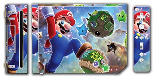 Super Mario Bros Galaxy 2 New 3D Land World Star Video Game Vinyl Decal Skin Sticker Cover for the Nintendo Wii System Console by Vinyl Skin Designs