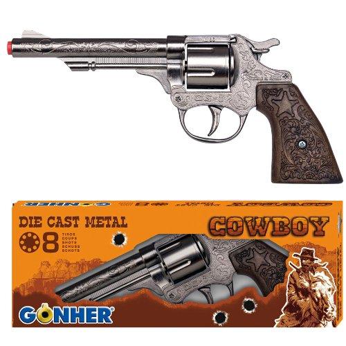 Gonher 80/0 - Revolver Cowboy 8-Schuss 20 cm silber -