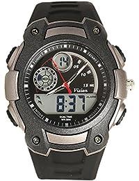 Vizion Black Dial Analog-Digital Dual Time Grey-Side Watch For Men-8016057AD-4
