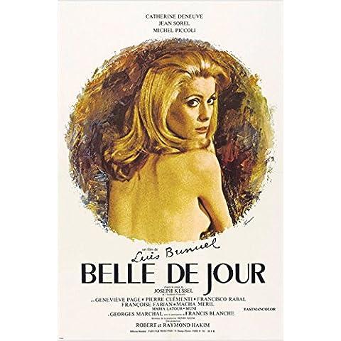 Catherine Deneuve Belle de Jour Vintage Movie Poster sexy gattino 24x 36Hot (Riproduzione, non un originale)