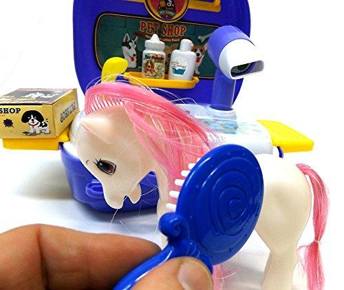Brigamo 561 – Spielzeug Frisiersalon für Kuscheltiere – To go Spielzeugset Frisiertisch - 4