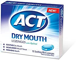 3 Pack - ACT Dry Mouth Soothing Mint Lozenges 18 ea