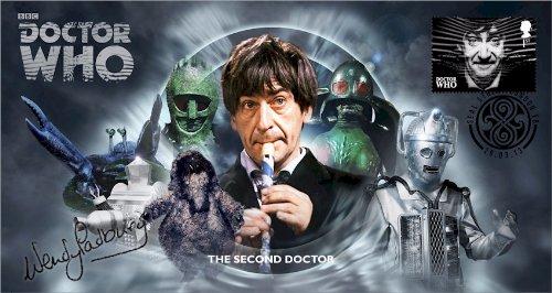 Doctor Who BBC Offizielle 50th Anniversary Limited Edition Wendy Padbury Unterzeichnet Ersttagsbrief - Der Zweite Doktor - Patrick Troughton -
