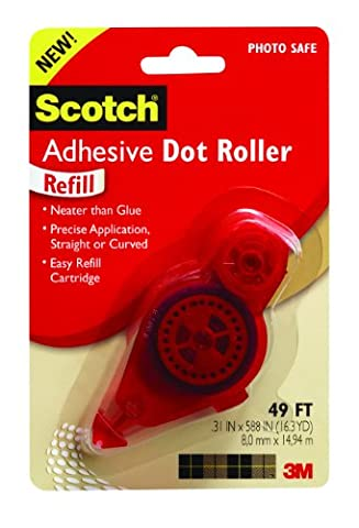 Adhesive Dot Refill, .3 in x 49ft