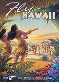 """World of Art Vintage Reiseposter """"Travel Hawaii"""" Pan Am Airways, 250g/m² Künstlerkarton, glänzend, A3, Nachdruck"""