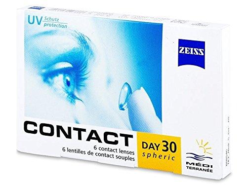 Zeiss Contact Day 30 Sphärisch Monatslinsen weich, 6 Stück / BC 8.9 mm / DIA 14.2 mm / -3.75 Dioptrien