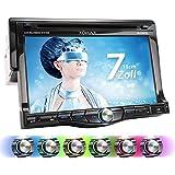 """XOMAX XM-DTSB7010 Autoradio / Moniceiver + 18 cm / 7"""" HD TOUCHSCREEN Display + Audio & Video: MP3 inkl ID3 TAG, WMA, MPEG4, AVI, DIVX etc. + Bluetooth Freisprecheinrichtung & Musikwiedergabe + Beleuchtung: Multicolor + Codefree DVD / CD Player + USB Anschluss bis 32 GB + Micro SD Kartenslot bis 32 GB! + RDS Radio Tuner + Rückfahrkamera Anschluss + Anschluss für Subwoofer + Single DIN (1 DIN) Standard Einbaugröße + inkl. Fernbedienung, Einbaurahmen"""