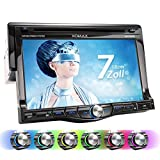 XOMAX XM-DTSB7010 Autoradio / Moniceiver + 18 cm / 7' HD TOUCHSCREEN Display + Audio & Video: MP3 inkl ID3 TAG, WMA, MPEG4, AVI, etc. + Bluetooth...