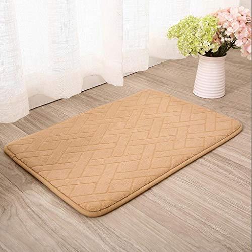 YT-ER Anti-Rutsch-Teppich Matten Bodenmatte Home Familie Indoor/Outdoor Küche Schlafzimmer Wohnzimmer Dicke Pad Matratze Wohnzimmer Bad Mat,45 * 120 cm,Orange