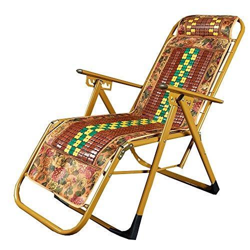 Sedia a sdraio lha mahjong lounge chair bamboo chair sedia pieghevole lunch break lounge chair portatile bamboo leisure chair semplice estate