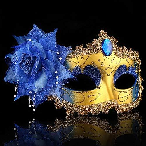 QTJKH Horror Maske Venezianische Maskerade Venezianische Maske Venezianische BlumeHochzeit PerformanceSex Lady Mask Maskerade Halloween Decor @ D (Dark Clown Kostüm)