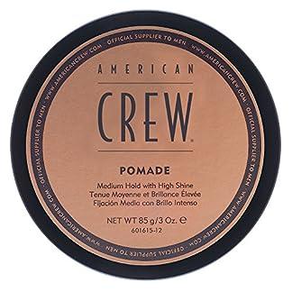 AMERICAN CREW POMADE MAN – Pomada de fijación media con brillo alto para hombre, 85 gr