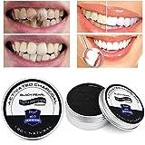 CUEYU Dentifrice blanchissant Pâte de dentifrice naturelle au charbon organique activée par du bambou de poudre de blanchiment des dents