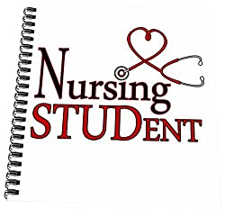 3dRose Nursing Student Red Heart Stethoscope - Mini Notepad, 4 by 4-inch
