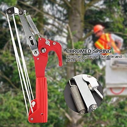 4 Ruedas Sharp Garden Poda Cabeza Cizalla Recogedor de Frutas Máquina Segador Pole Saw Tree Trimmer Clipper Herramienta de Corte Sin Polo