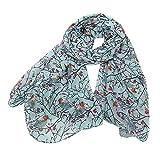 LoveLeiter Robin Vogel Schal, Seiden-Tuch für Damen Paisley Muster, Damen Elegant Seidenschal Weihnachten