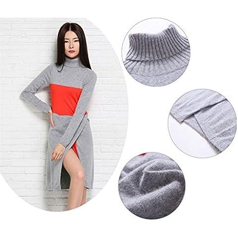 Dividere maglia elegante moda con scollo a v mezza donne