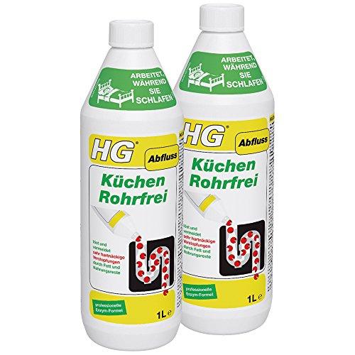 HG Küchen Rohrfrei, 2er Pack(2 x 1000 ml)