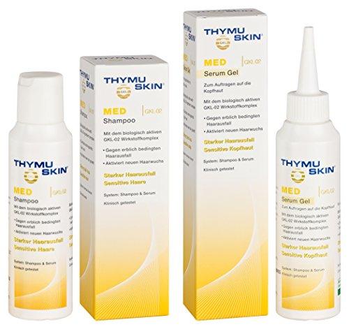 Thymuskin Med Set (Shampoo + Serum Gel) - Mittel gegen starken Haarausfall für Frauen & Männer - aktiviert neuen Haarwuchs - durch...