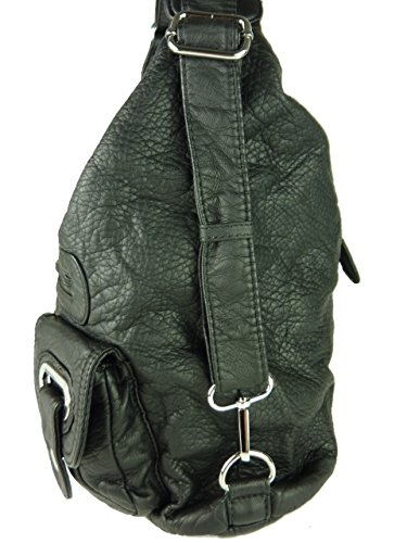 VALILAI 0801-52 moderne Damen Alltagstasche, Rucksacktasche in 7 Farben 30x26x12 schwarz black