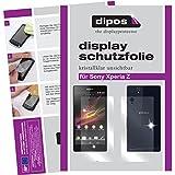 4x Dipos Crystalclear Displayschutzfolie für Sony Xperia Z (jeweils 2 Folien für die Vorderseite und die Rückseite)