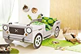 Autobett Jeep inkl. Rollrost 90*200 cm Kinderbett Safari Geländewagen Dschungel Jugendbett Jugendliege Einzelbett Bett Kinderzimmer 124