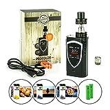 Steamax / Smok ProColor Kit 225 W inkl. TFV8 Big Baby (5 ml) + 2 x 3120 mAh Akku + 3 x 10 ml SC-Liquid (nikotinfrei) E-Zigaretten-Set E-Zigarette E-Shisha (schwarz)