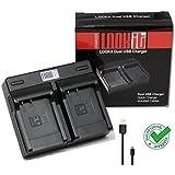 Dual Chargeur microUSB pour Batterie BLG10 pour Panasonic LUMIX DMC TZ100 TZ101 TZ80 TZ81 GX80 (Double Chargeur )