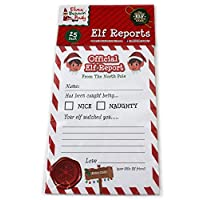 Giftsbynet Elves behaving badly Report cards Christmas Behavior Xmas 25 cards per pack (1 x Pack)
