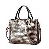 NiaNia Women's YB041 Bronze Leather Shoulder Bags Women Totes Tote Bag Handbag