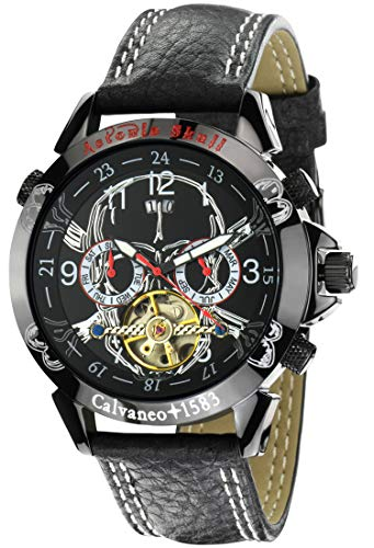 Calvaneo 107630 - Reloj, correa de cuero color negro