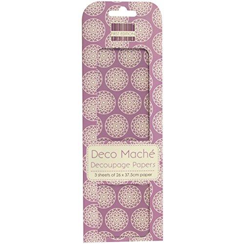 first-edition-fedec034-papel-mache-para-manualidades-diseno-de-circulos-con-motivos-geometricos