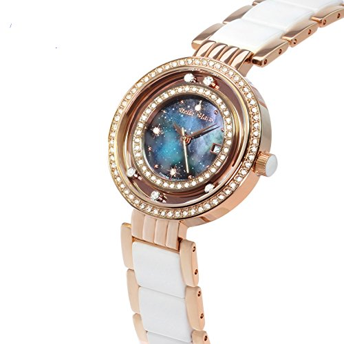 Image of Stella Maris Women's Wrist Watch - Analog Quartz - Premium Ceramic Strap - Mother-of-pearl Dial - Diamonds and Swarovski Elements - STM15SM15