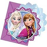 Procos 86919–Einladungskarten mit Umschlag Disney Frozen, 6Stück, mehrfarbig