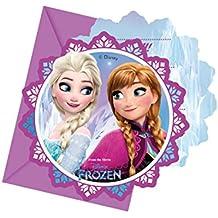Procos 86919–Invitaciones con sobre Disney Frozen, 6unidades, multicolor