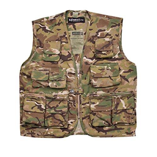 Combat Kids Army Style Vest Btp Camo Airsoft Hunting Fishing 7-13yrs Dress - Kinder Softair Für Weste