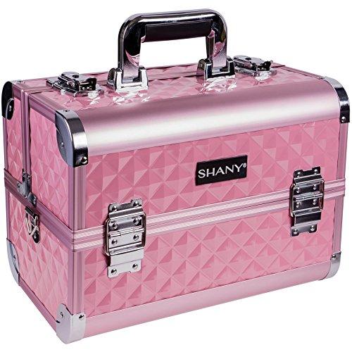Shany Cosmetics - Boîte de maquillage facilement transportable - Miroir intégré - Rose