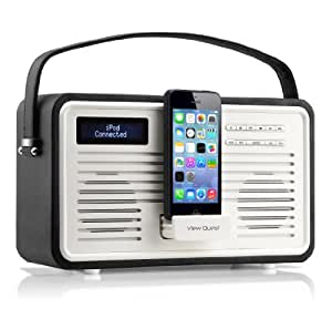 View Quest ColourGen DAB/DAB+ - Radio FM con altoparlante, in stile retro