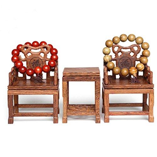 Preisvergleich Produktbild KERVINFENDRIYUN YY4 Antiker Schmuckständer Chinesischer Schmuck Ausstellungsstand Woodcarving Tisch Und Stuhl Set Von DREI (Shape : Blessed Word)