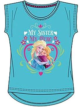 Disney Die Eiskönigin T-Shirt in Pink, Weiss oder Hellblau Gr. 104, 110, 116, 128