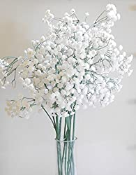 BALLERINA'S Gypsophila / Baby's Breath Artificial Flowers (Set of 4, White)