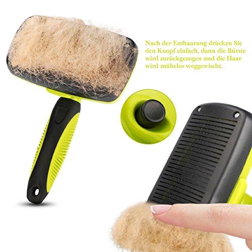 Pecute Zupfbürste Fellpflege Hundebürste für gesundes glänzendes Fell ohne Ziepen gegen Verfilzungen - 2