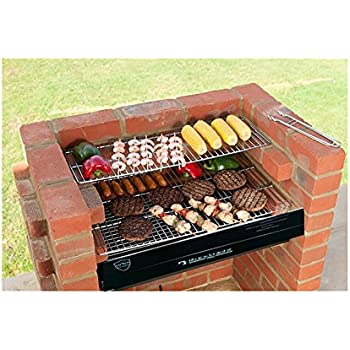 brick bbq kit with stainless steel cooking grill warming rack 6mm thick stainless steel. Black Bedroom Furniture Sets. Home Design Ideas