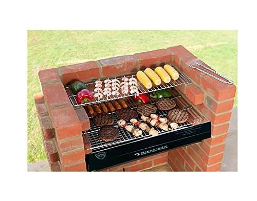 bkb413 Kit de ladrillos de barbacoa con Kit de parrilla de barbacoa de acero inoxidable + Calentamiento rack