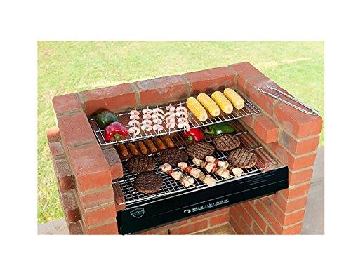 bkb413Kit de ladrillos de barbacoa con Kit de parrilla de barbacoa de acero inoxidable + Calentamiento rack