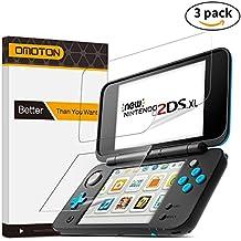 [3 Unidades] OMOTON Nintendo New 2DS XL Protector de Pantalla PET Flexible [No Cristal][Anti-aceite] Protector de Pantalla PET Flexible New Nintendo 2DS XL